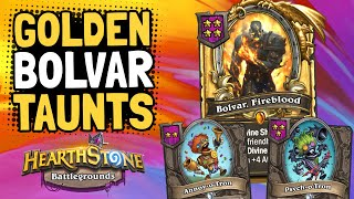 GOLDEN BOLVAR in a TAUNT DIVINE SHIELD Build!   Battlegrounds   Hearthstone
