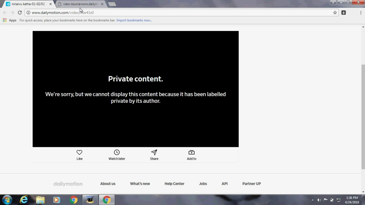 how to download dailymotion private content/password protected videos