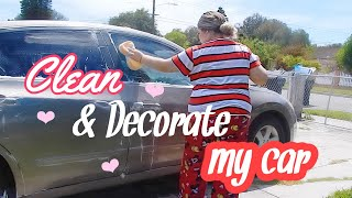 Giving my Car a Makeover 🌸| Simply Jazmin