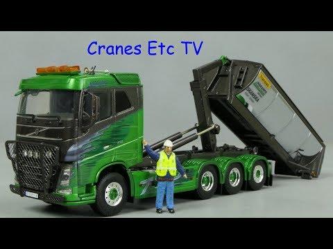 WSI Volvo FH4 + Palfinger Hooklift 'Hakarps' by Cranes Etc TV