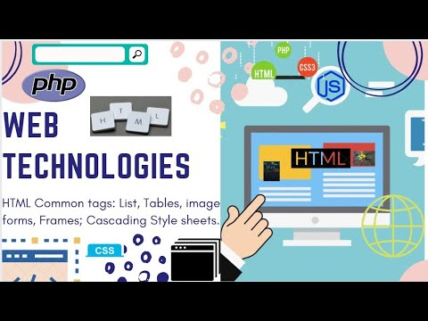 WEB TECHNOLOGIES||HTML Common Tags: List, Tables, Images, Forms, Frames|| Cascading Style Sheets||
