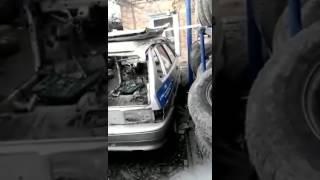 Патрульный автомобиль новороссийских полицейских на