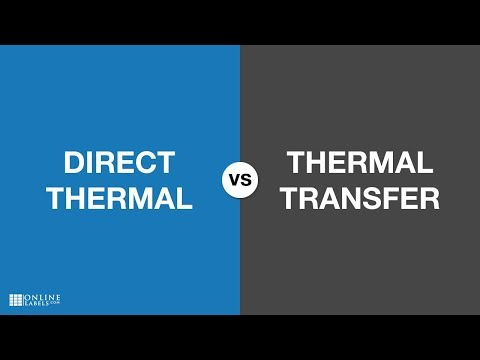 Direct Thermal vs Thermal Transfer