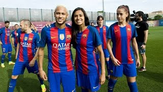 The fc barcelona women's football team, which is getting ready to host return leg of champions league last 32 on wednesday evening at miniestadi,...