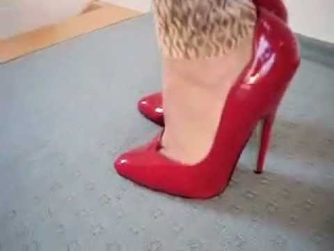 walking in 6 inch red high heels  youtube