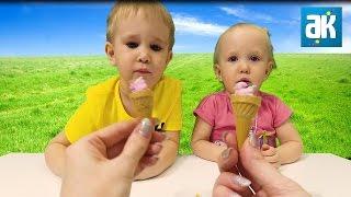 Мороженое и Пирожное Popin Cookin | Бамбуча и Кирюша