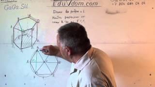Стереометрия. В правильной шестиугольной призме найдите расстояние от точки B до плоскости F F1 E1