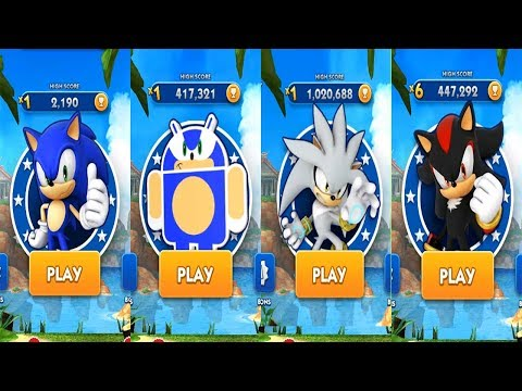 Sonic Dash Android Gameplay - SONIC VS ANDRONIC VS SILVER VS SHADOW