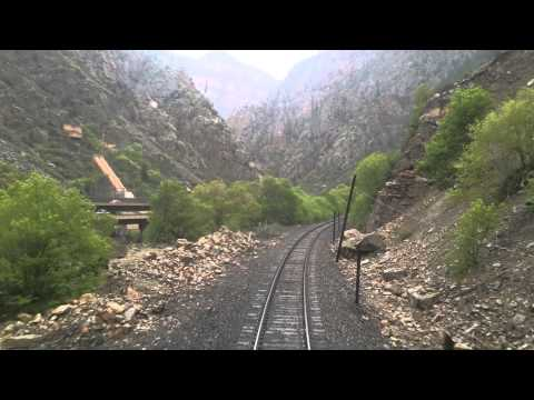 Traveling west through Glenwood Canyon in Colorado aboard Amtrak, May 2014