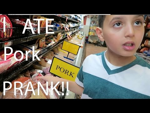I ATE PORK PRANK ON MUSLIM BROTHER!!