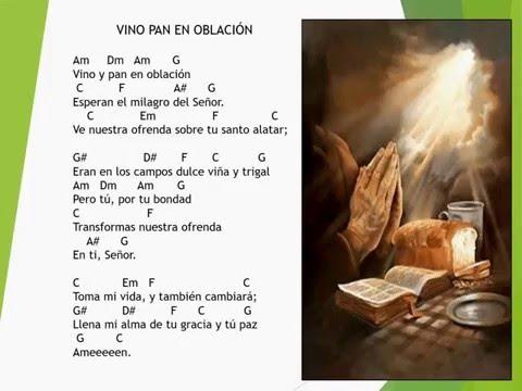 VINO  Y PAN EN OBLACIÓN CORDES