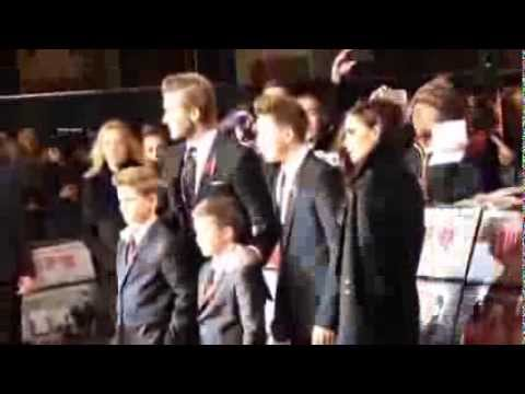 Victoria Beckham & the family at the Class of '92 premiere