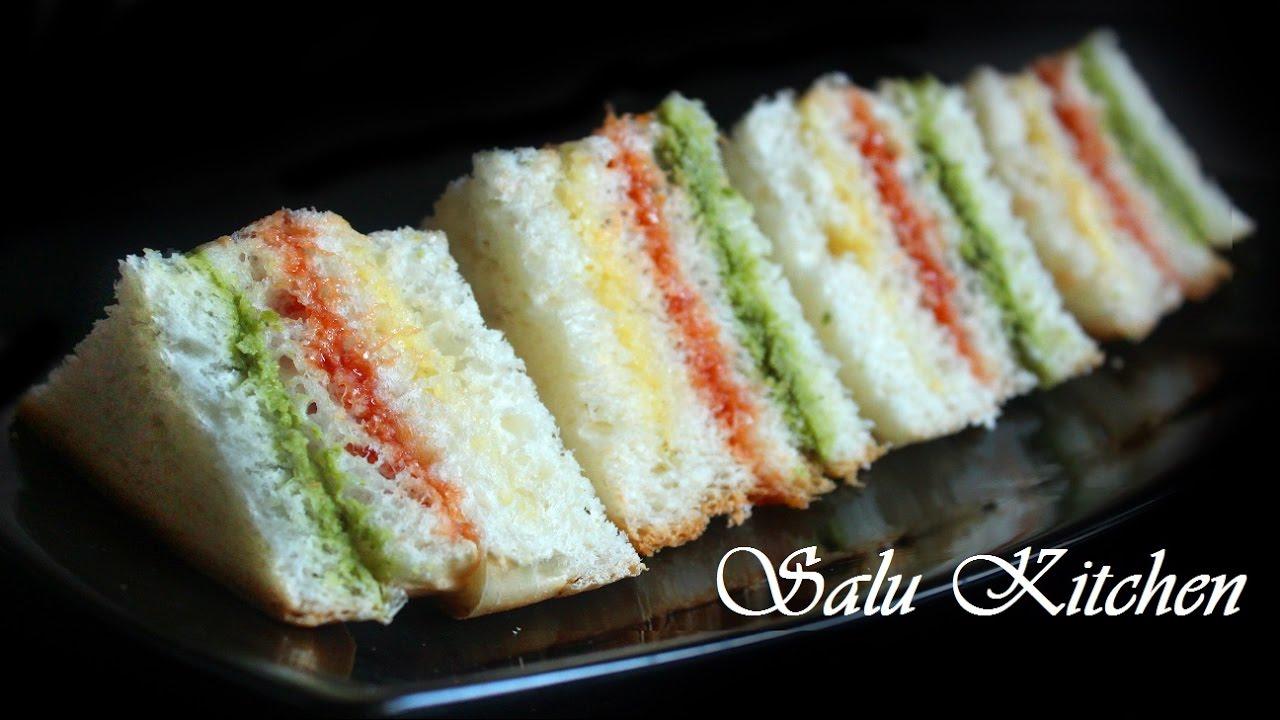 How to make easy tri colour bread sandwich lunch box recipe youtube how to make easy tri colour bread sandwich lunch box recipe forumfinder Gallery