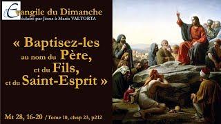 Maria Valtorta : Evangile du dimanche - Dimanche 27 Mai