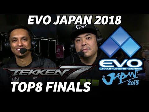 EVO JAPAN 2018 TEKKEN7 TOP8 FINALS (TIMESTSAMP) Knee Qudans Chanel Saint LowHigh Take Gura Ulsan