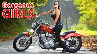 Beautiful Girls on Motorcycles