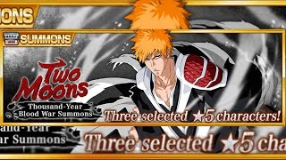 Bleach Brave Souls : A Busca Dele!!! Summons Two Moons!!! #ichigotwomoons