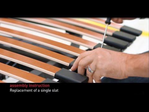 Swissflex assembly instructions - replacement single slat
