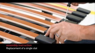 Swissflex assembly instructions - replacement single slat