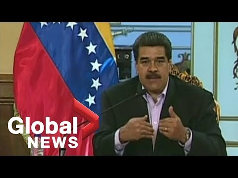 Venezuelan President Nicolas Maduro addresses the nation