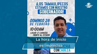 La manifestación será en respaldo al mandatario Francisco García Cabeza de Vaca, quien enfrenta una solicitud de desafuero de la FGR ante la Cámara de Diputados