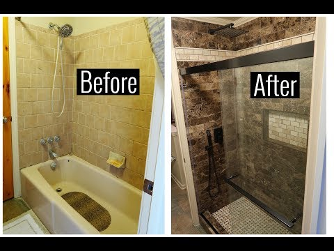 Tub To Shower Transformation Youtube
