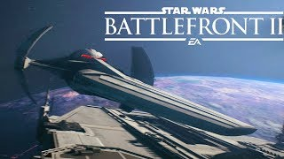 Battlefront 2 DARTH MAUL's Cloaking Scimitar Gameplay (Star Wars Battlefront 2 Starfighter Assault)