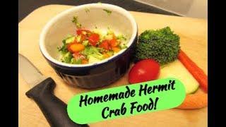 Homemade Hermit Crab food