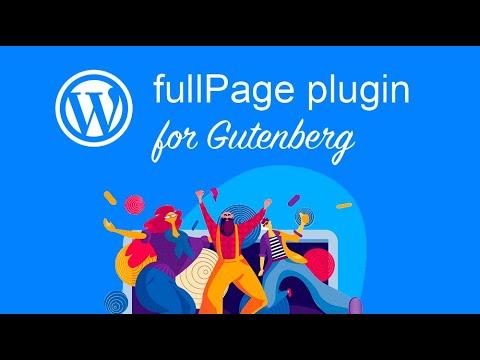 FullPage for Gutenberg · Plugin Documentation