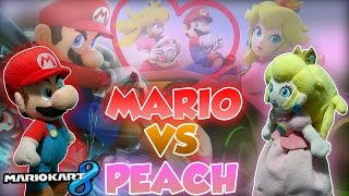 Скачать ABM Mario Vs Peach Mario Kart 8 Gameplay Match HD