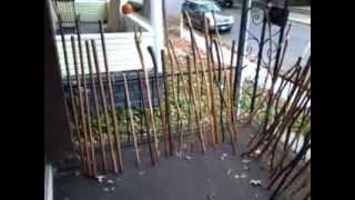 Diy 50th Handmade Walking Stick Making Hiking Sticks Wooden Staff Trek Poles Wood Cane