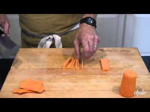 Hugh Acheson Demonstrates How to Dice a Carrot