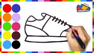 아이들을 위한 예쁜 신발 그리기, 색칠하기
