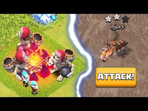 USING GIANT SKELETON + ICE WIZARD IN CLAN WAR | Clash of Clans