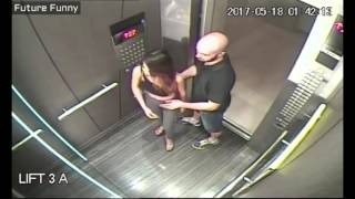 Funny Make love with strange boys in the elevator and the unexpected ending