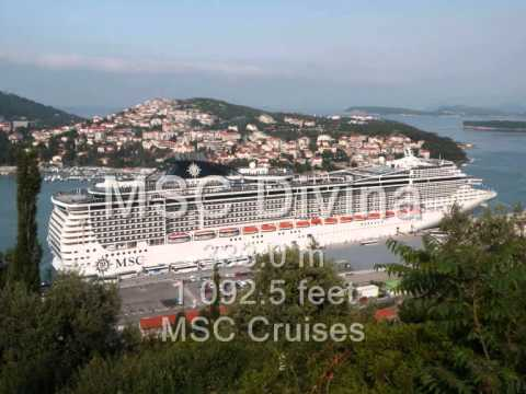 Top 10 Biggest Cruise Ships In The World 2013  YouTube