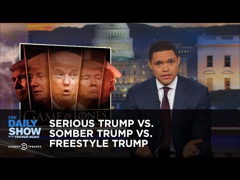 Thumbnail: Serious Trump vs. Somber Trump vs. Freestyle Trump: The Daily Show