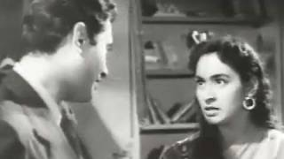 Fight between Dev Anand and Nutan, Paying Guest - Comedy Scene 2/8