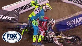 Riders fight after crash at Supercross event   FOX SPORTS screenshot 3