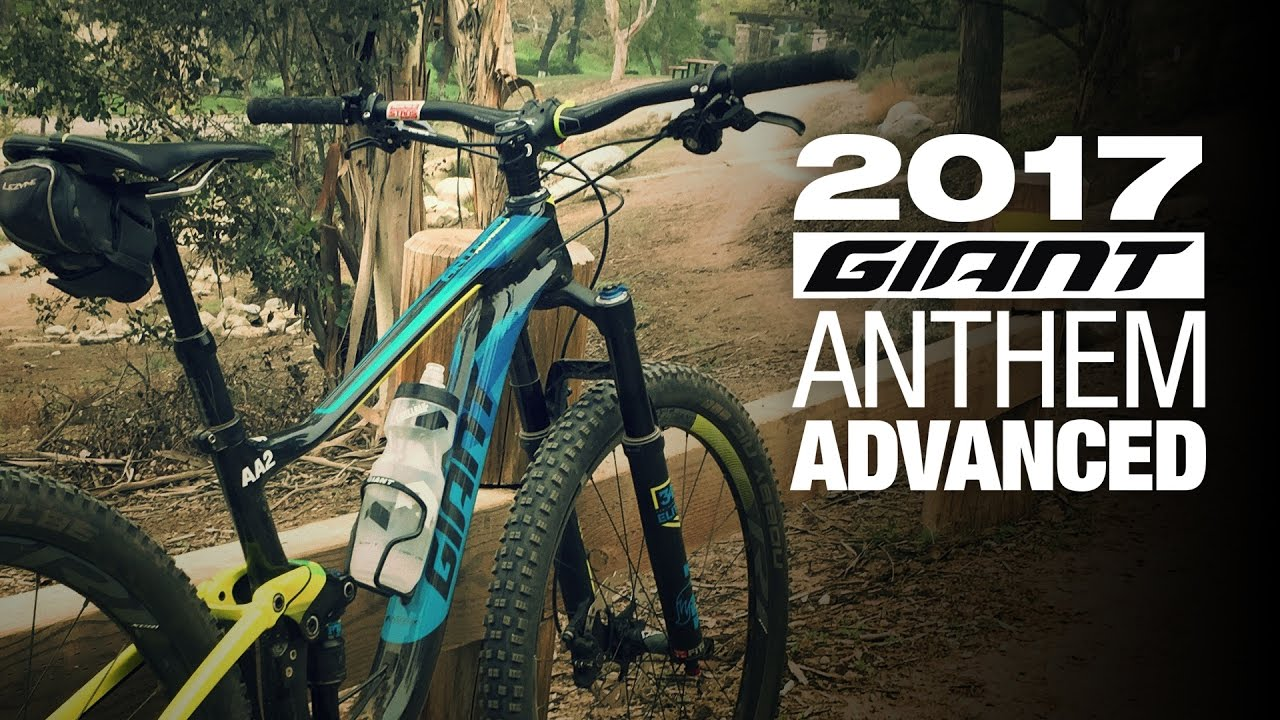 471a0f7c5cc 2017 Giant Anthem Advanced 1 27.5 Mountain Bike Review - Giant Demo Day -  YouTube
