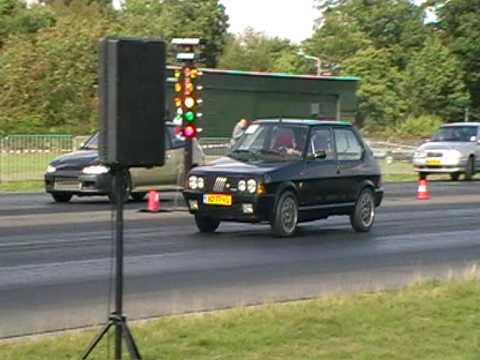 fiat ritmo 130 tc abarth vs honda civic turbo streetlegal drachten 28-08-09