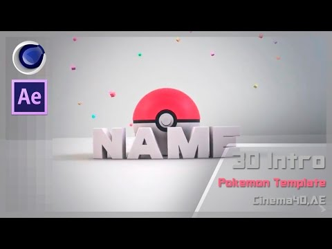 FREE 3D NEW Pokemon Intro AE,C4D Intro Template #90(Intro Editable)