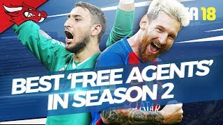 Best Free Agents in Season 2 of FIFA 18 Career Mode