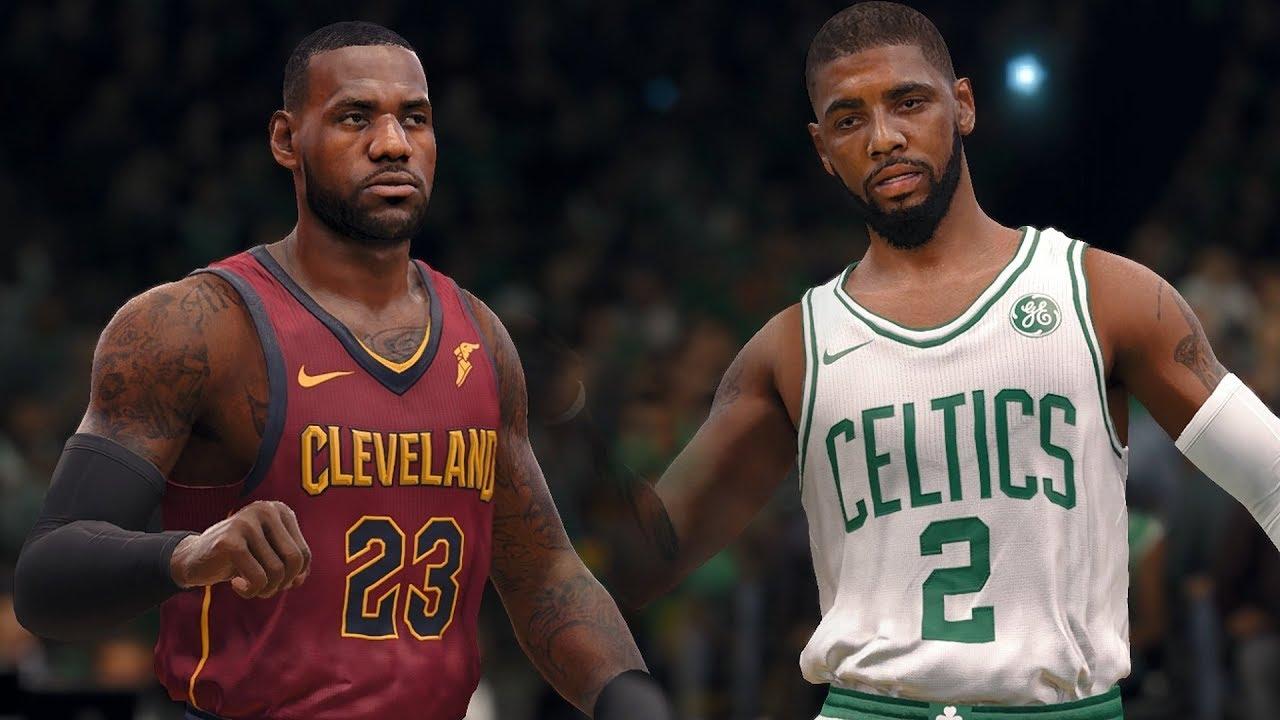 separation shoes fa194 d592d NBA LIVE 18 - Boston Celtics vs Cleveland Cavaliers | Kyrie vs Lebron (FULL  MATCH)
