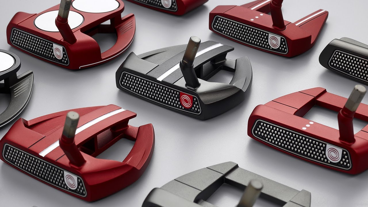 9f613eb1dc32 Odyssey O-Works Red   Black Putters - YouTube