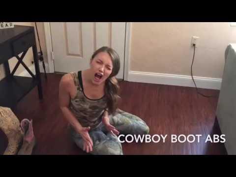 Cowboy Boot Abs – Redneck Workout Tip