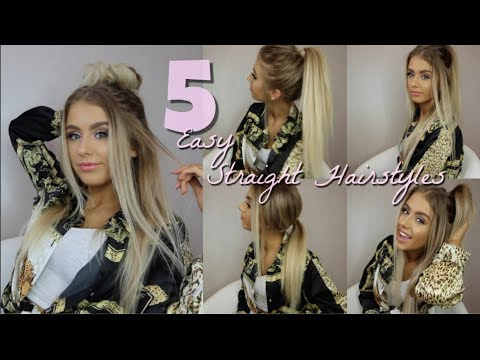 SUPER EASY STRAIGHT HAIRSTYLES | BACK TO SCHOOL/COLLEGE
