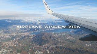 イタリア・ミラノの上空から。ライアンエアー機窓展望 / Ryanair airplane view window flying from Dublin to Milan【飛行機 格安航空会社】