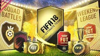 НАГРАДЫ ЗА SQUAD BATTLES и WEEKEND LEAGUE - 90+ ИГРОК | FIFA 18