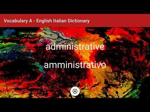 English - Italian Dictionary - Vocabulary A